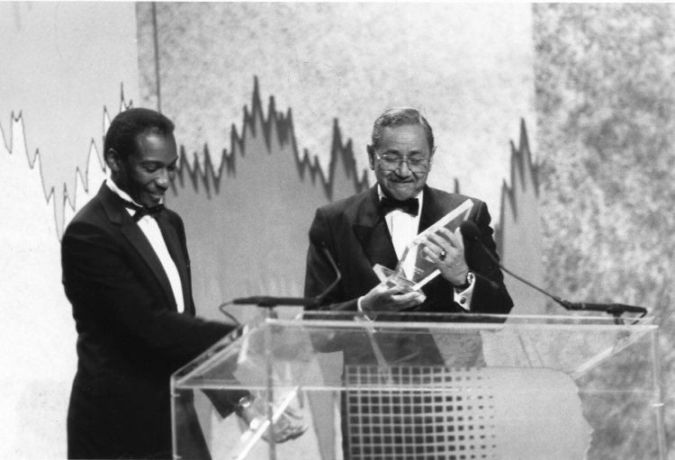 Raymond V. Haysbert Sr. receiving Award 1972